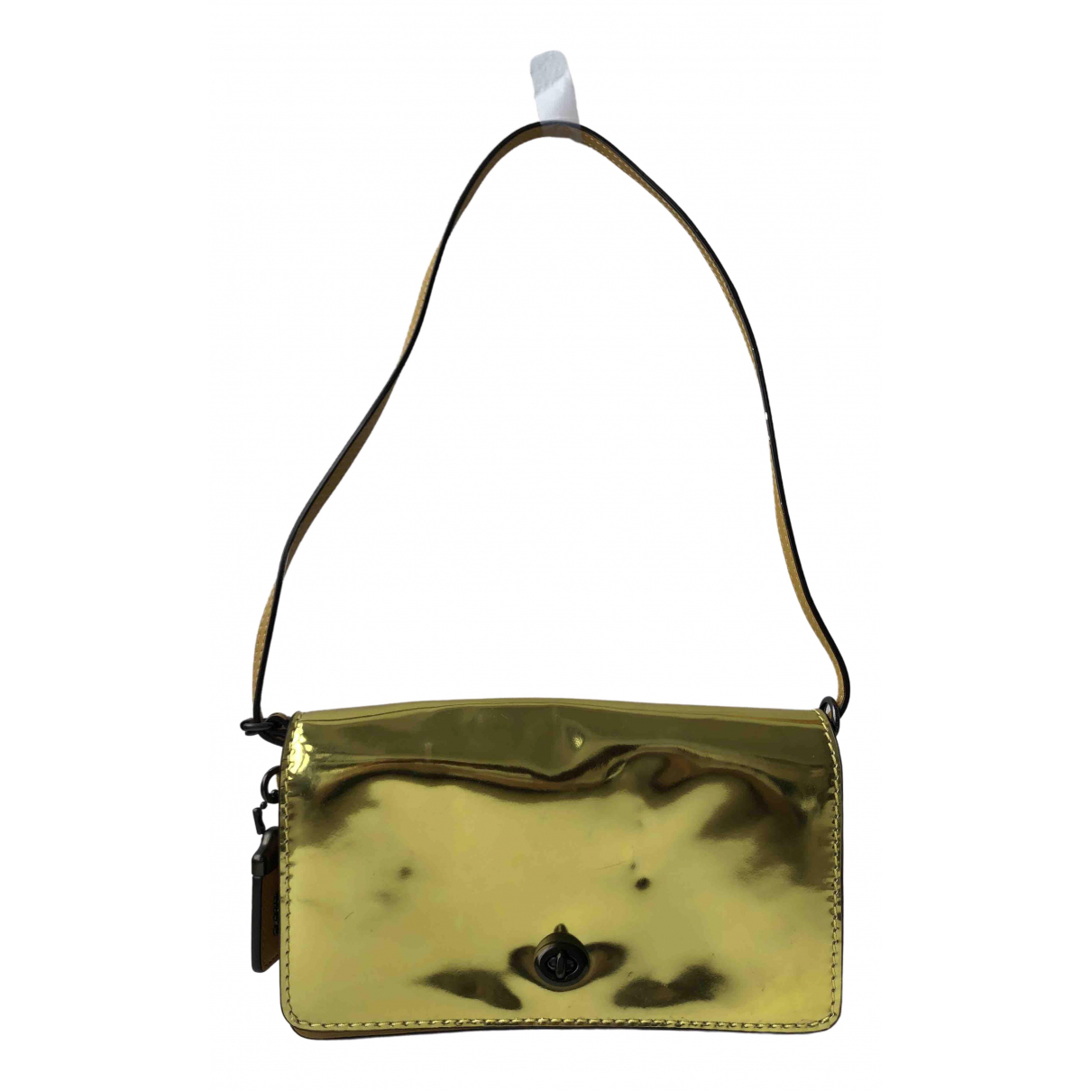 Coach Smooth Crossbody  Gold Patent leather handbag for Women \N