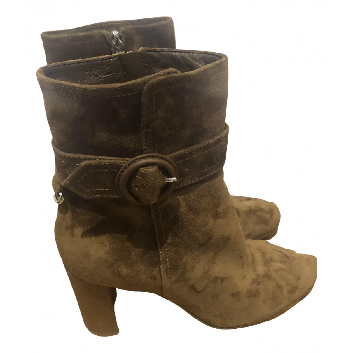 Gianvito Rossi \N Brown Suede Boots for Women 40 EU
