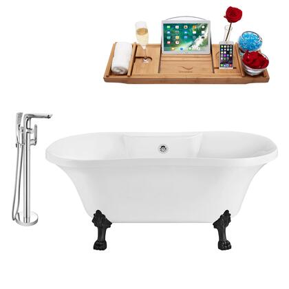 NH100BL-CH-120 Faucet and Tub Set with 60