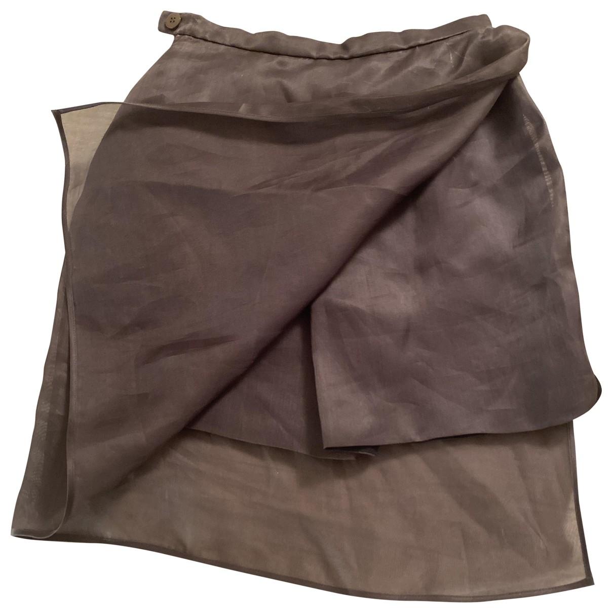 Giorgio Armani - Jupe   pour femme en soie - marron