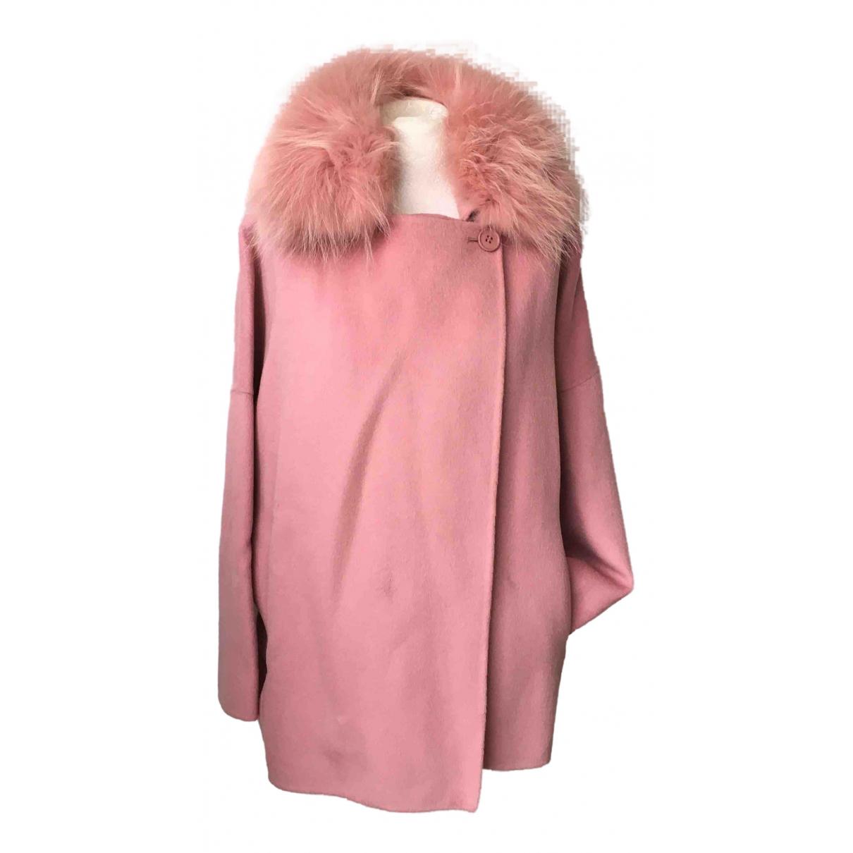Parosh - Manteau   pour femme en laine - rose