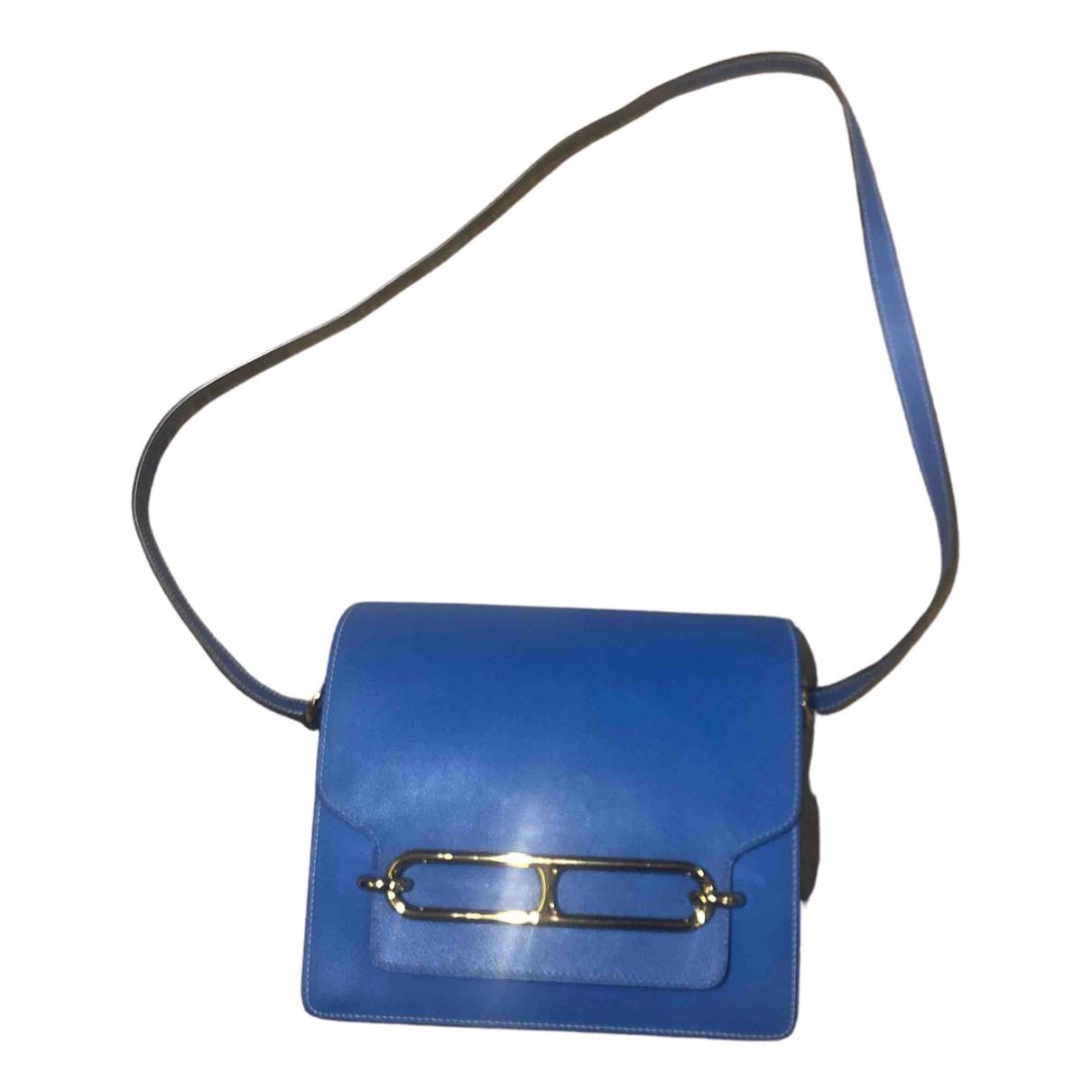 Hermès Roulis Blue Leather handbag for Women N