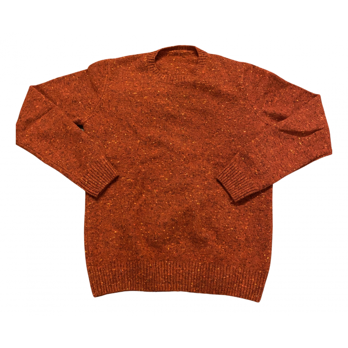 Non Signe / Unsigned \N Pullover.Westen.Sweatshirts  in  Bordeauxrot Kaschmir