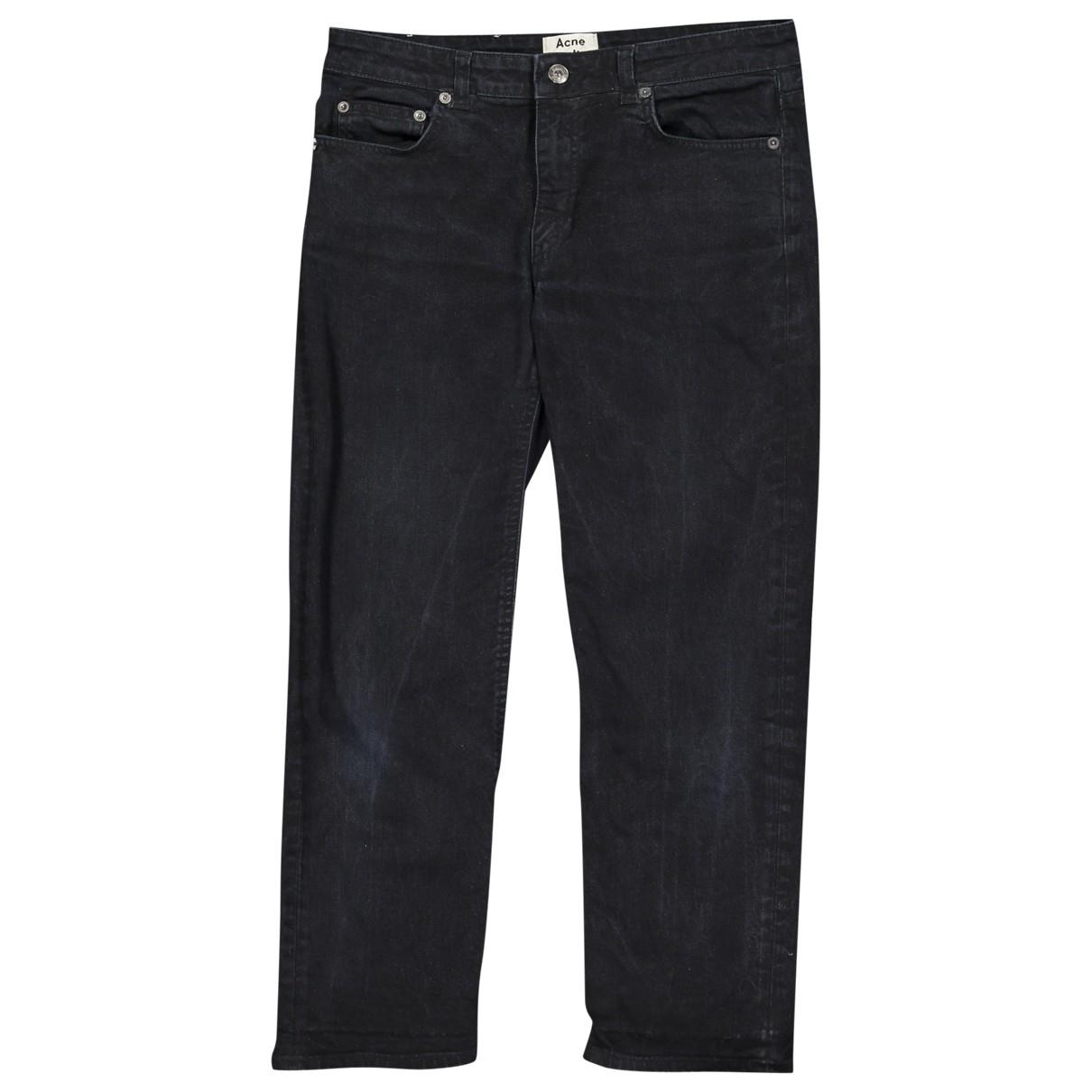 Acne Studios Row Black Cotton - elasthane Jeans for Women 28 US