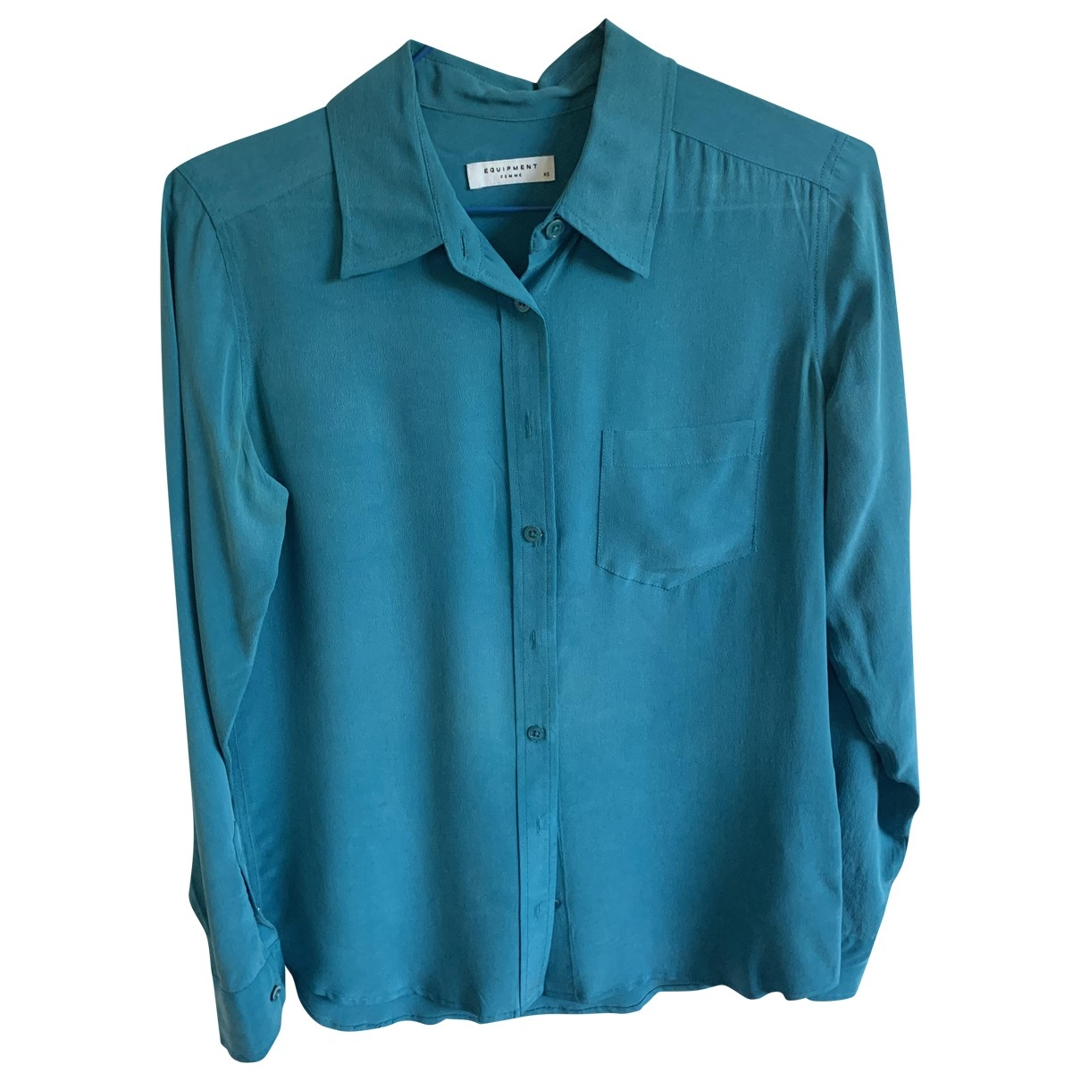 Equipment \N Blue Silk  top for Women 36 FR