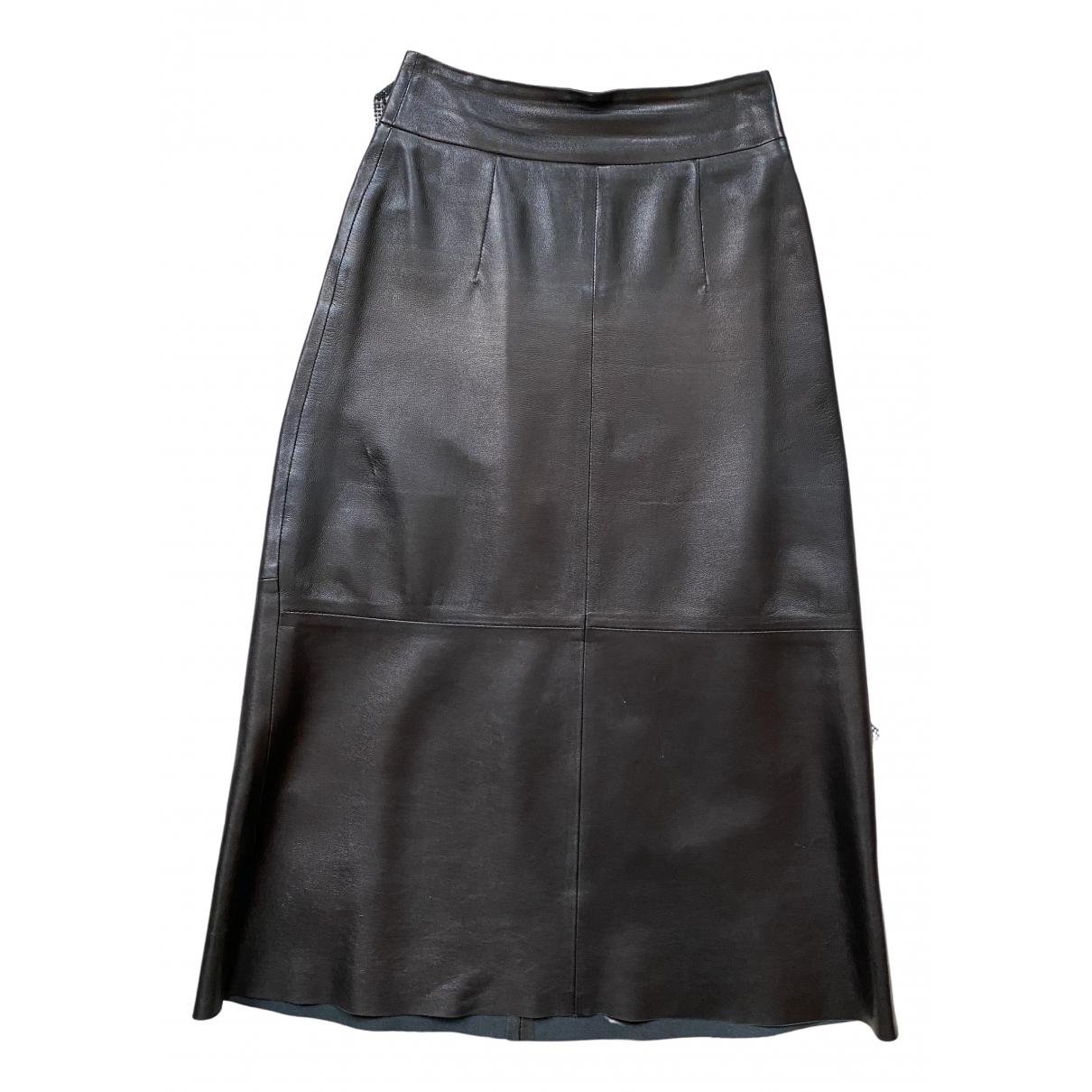 Arket - Jupe   pour femme en cuir - noir