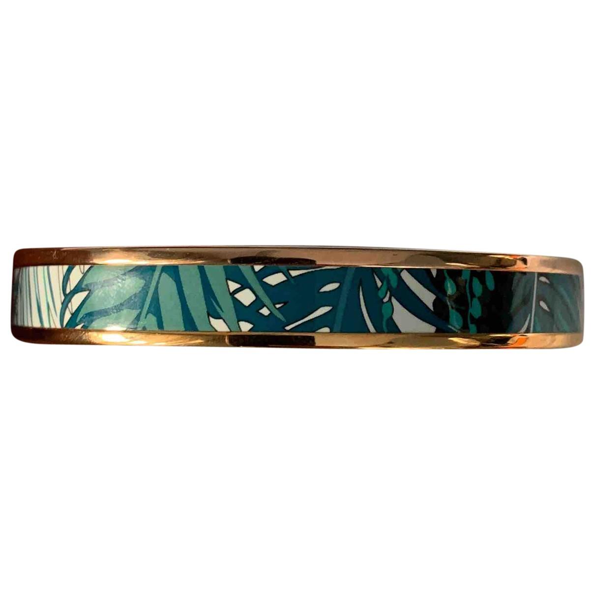 Hermes Bracelet Email Armband in  Gruen Metall