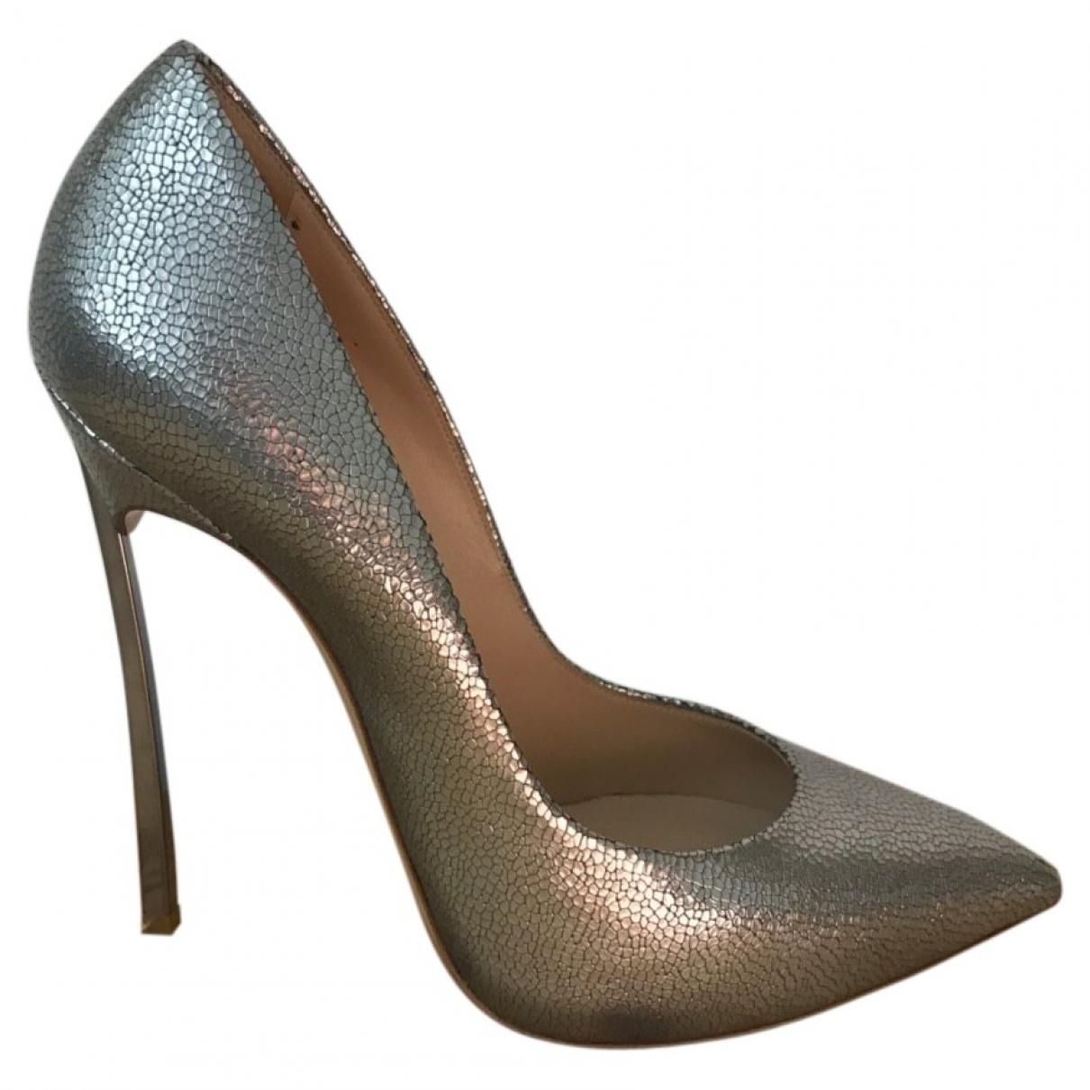 Casadei \N Metallic Leather Heels for Women 39 EU
