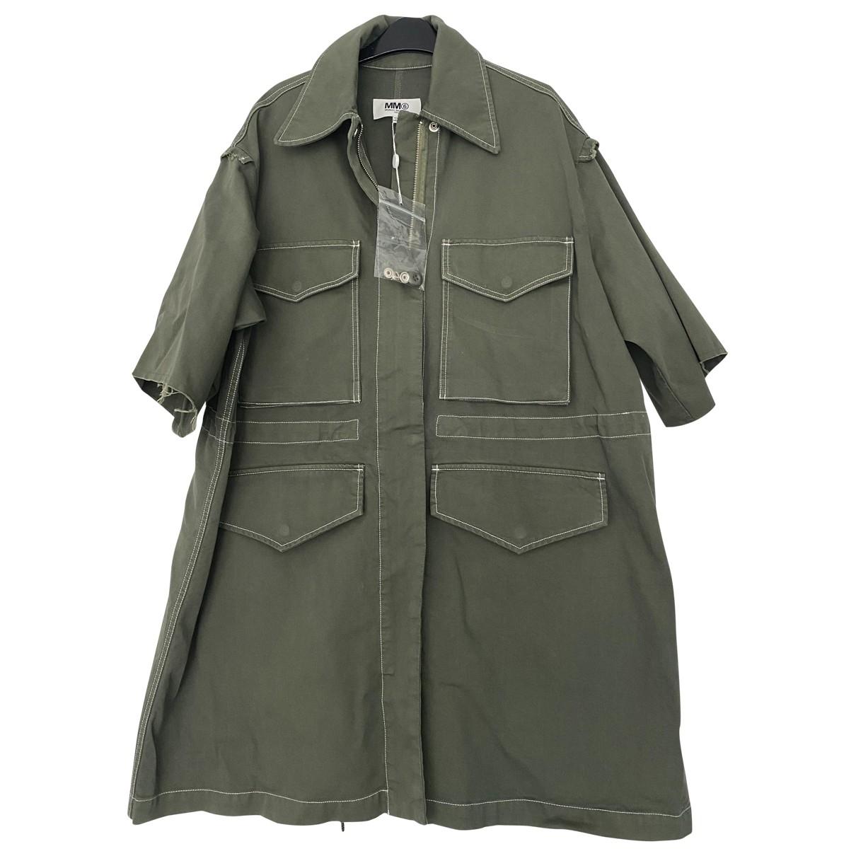 Mm6 - Manteau   pour femme en coton - kaki