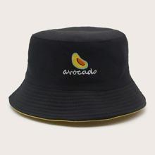 Sombrero cubo con bordado de fruta