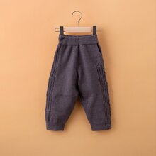 Toddler Girls Cable Knit Tapered Pants