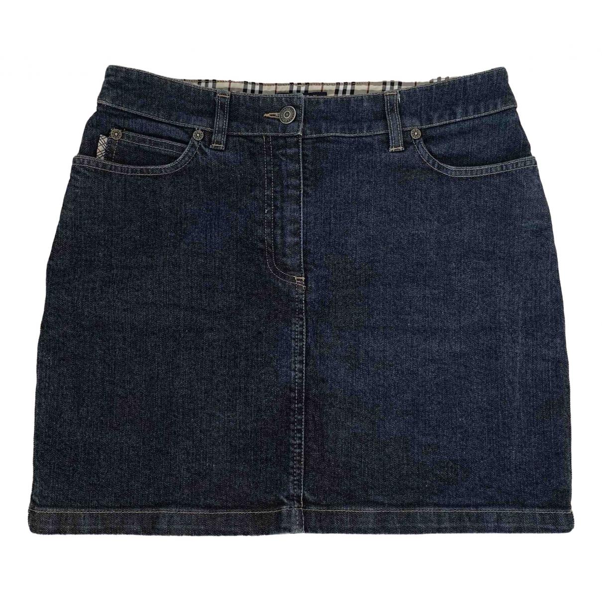 Burberry \N Rocke in  Marine Denim - Jeans