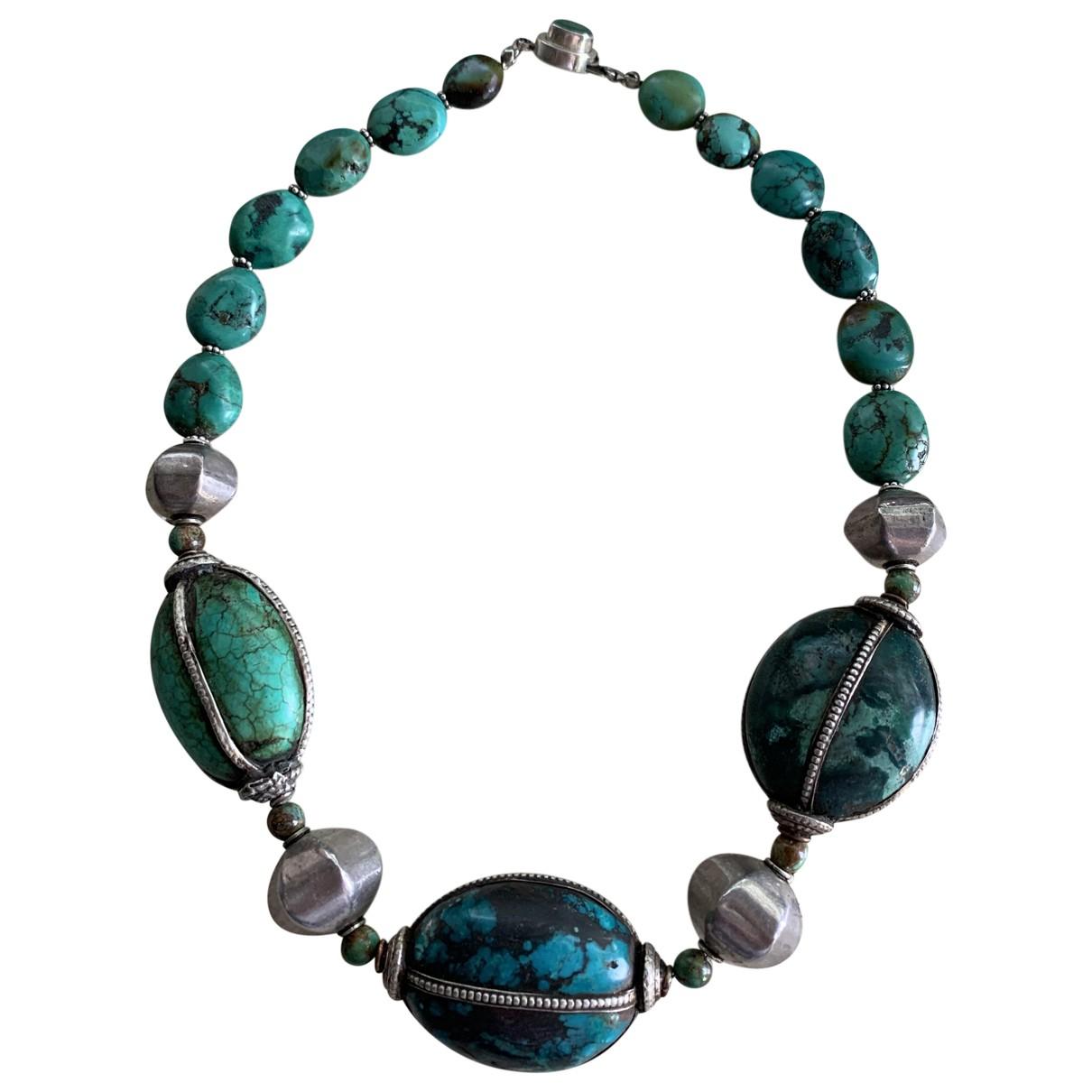 - Collier Turquoises pour femme en argent - vert