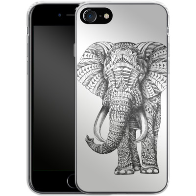 Apple iPhone 8 Silikon Handyhuelle - Ornate Elephant von BIOWORKZ