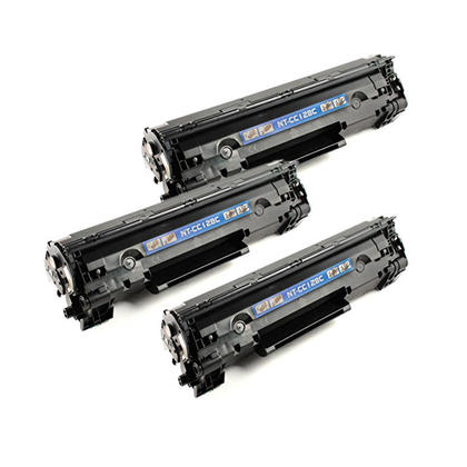 Compatible Canon 128 3500B001 cartouche de toner noire - boite economique - 3/paquet