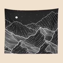 Mountain Print Tapestry