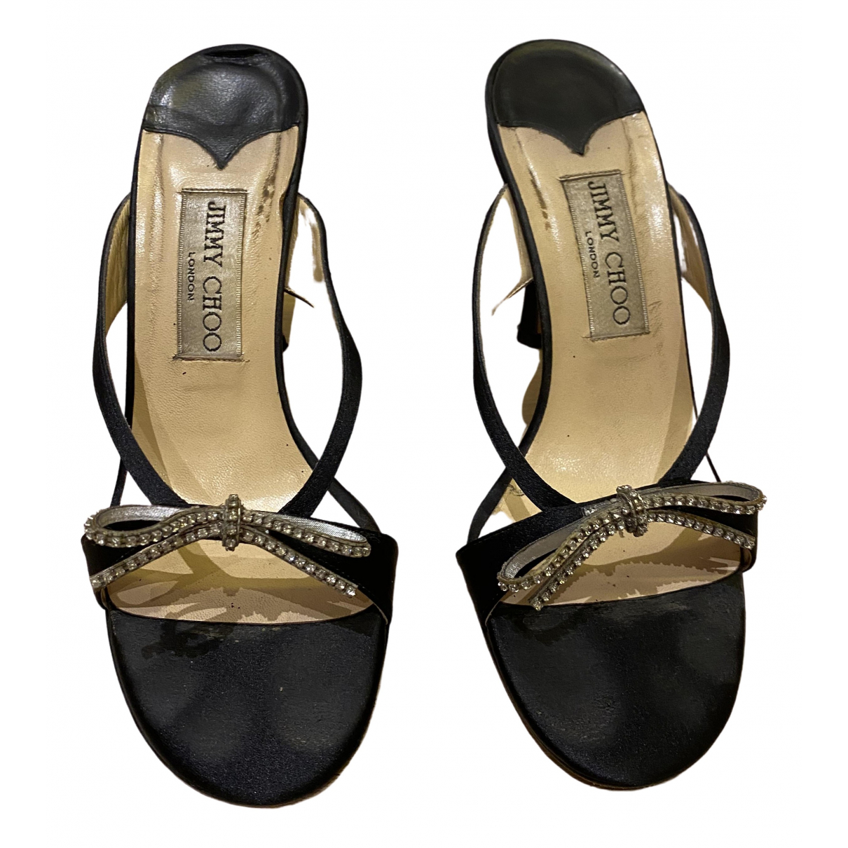 Jimmy Choo \N Black Cloth Sandals for Women 36.5 IT
