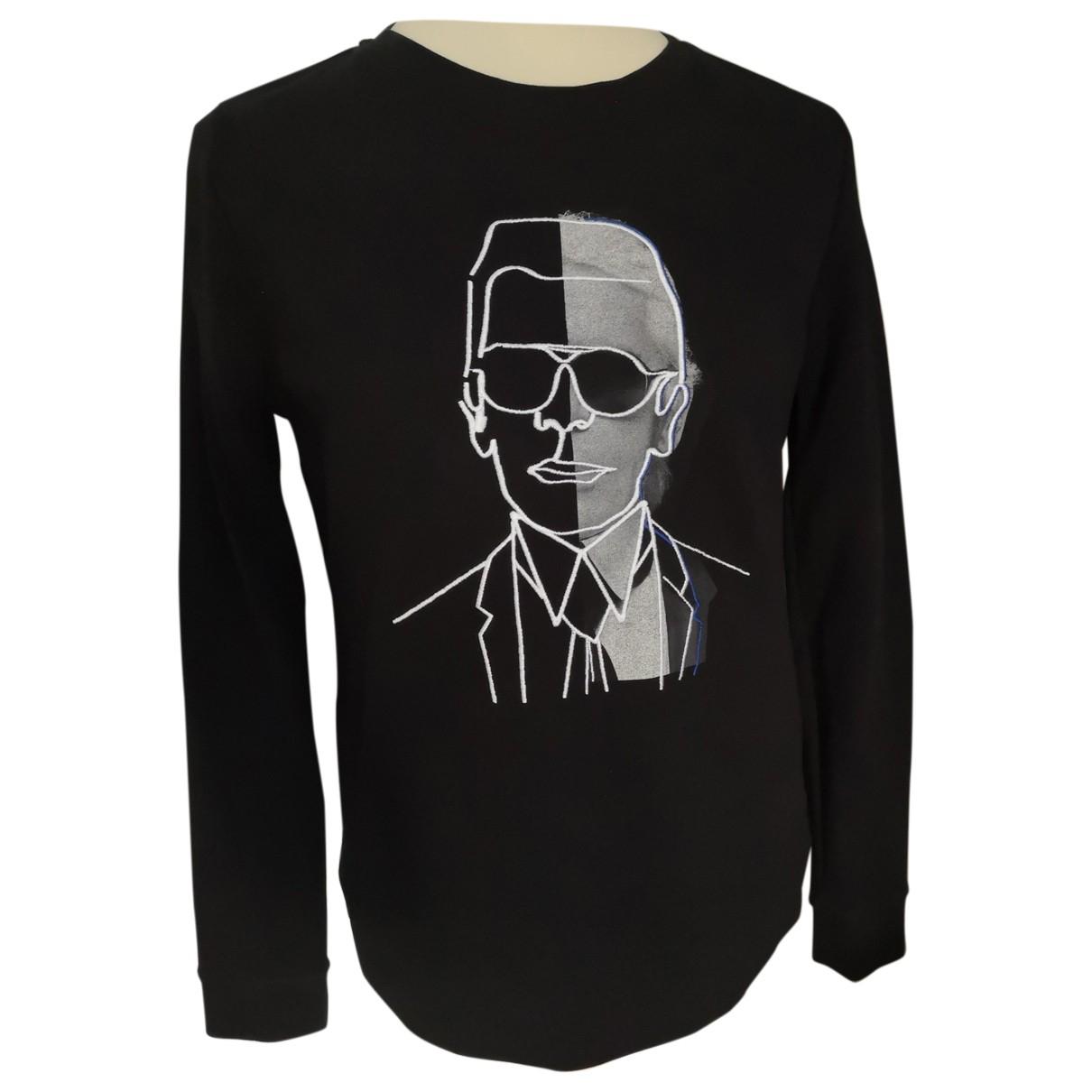 Karl Lagerfeld \N Black Cotton Knitwear for Women L International