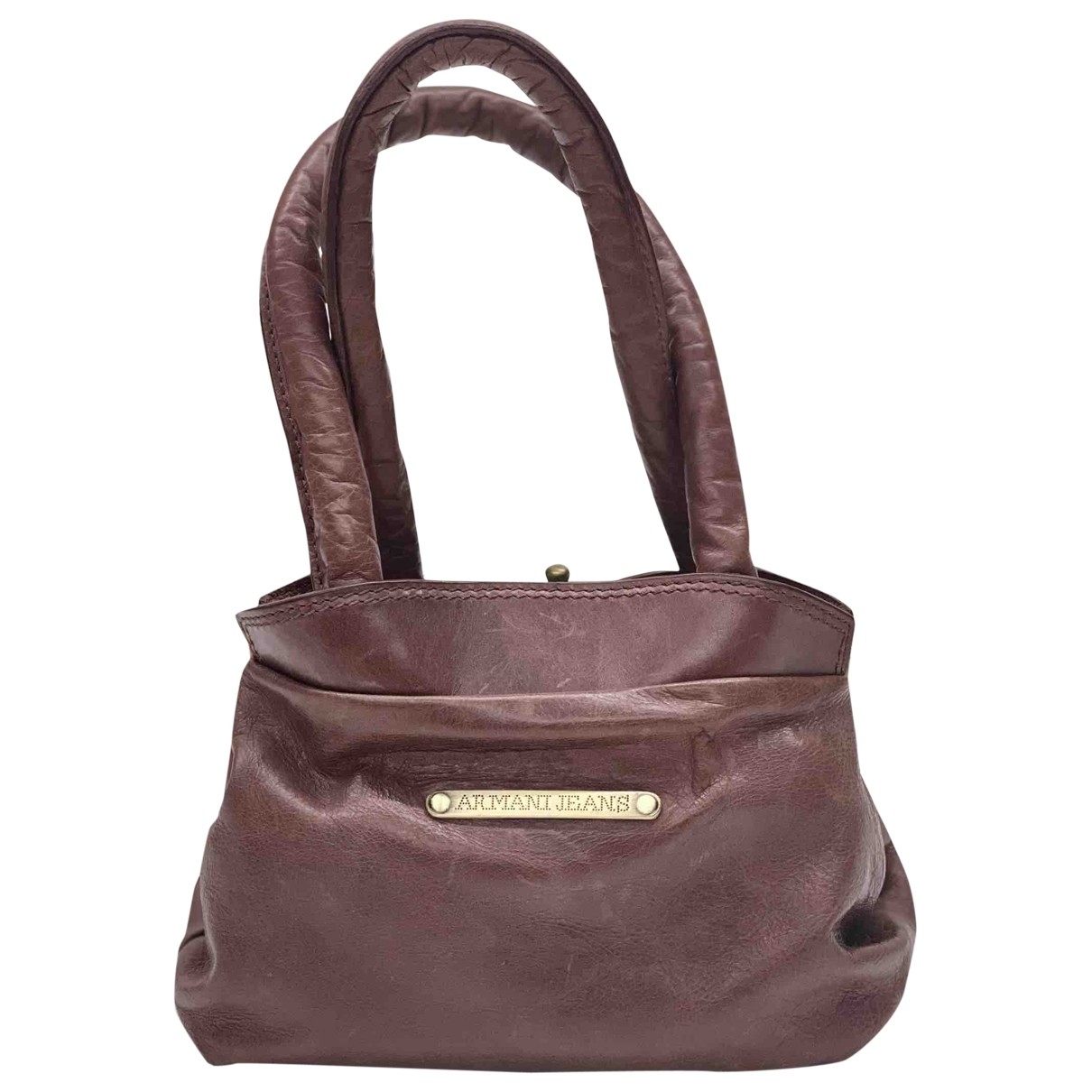 Armani Jeans \N Brown Leather handbag for Women \N