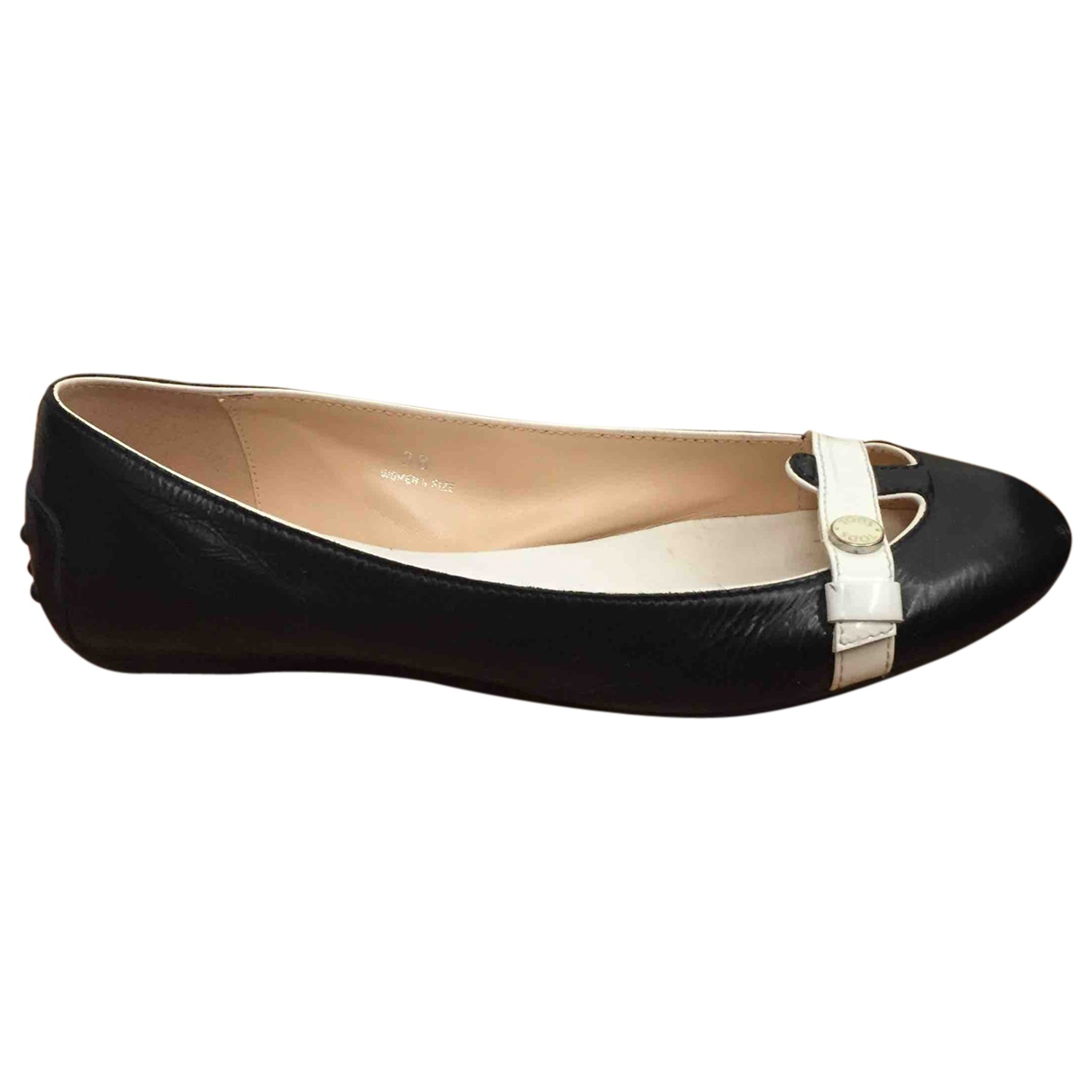 Tod's \N Blue Leather Ballet flats for Women 38 IT