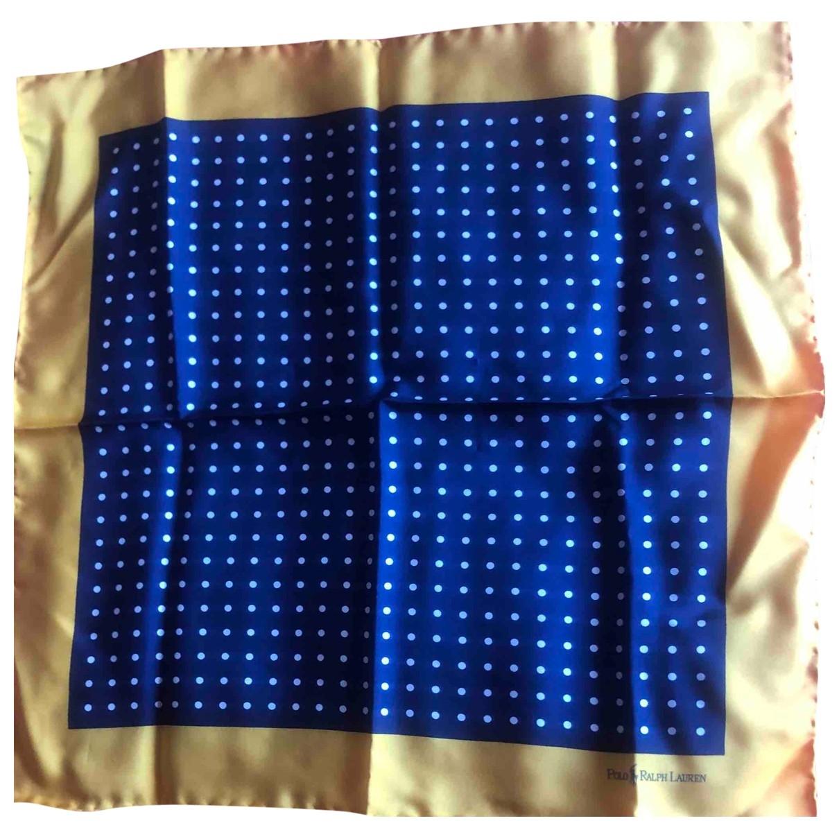 Polo Ralph Lauren - Foulard   pour femme en soie - bleu