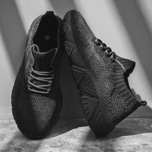 Guys Lace-up Decor Wide Fit Sneakers