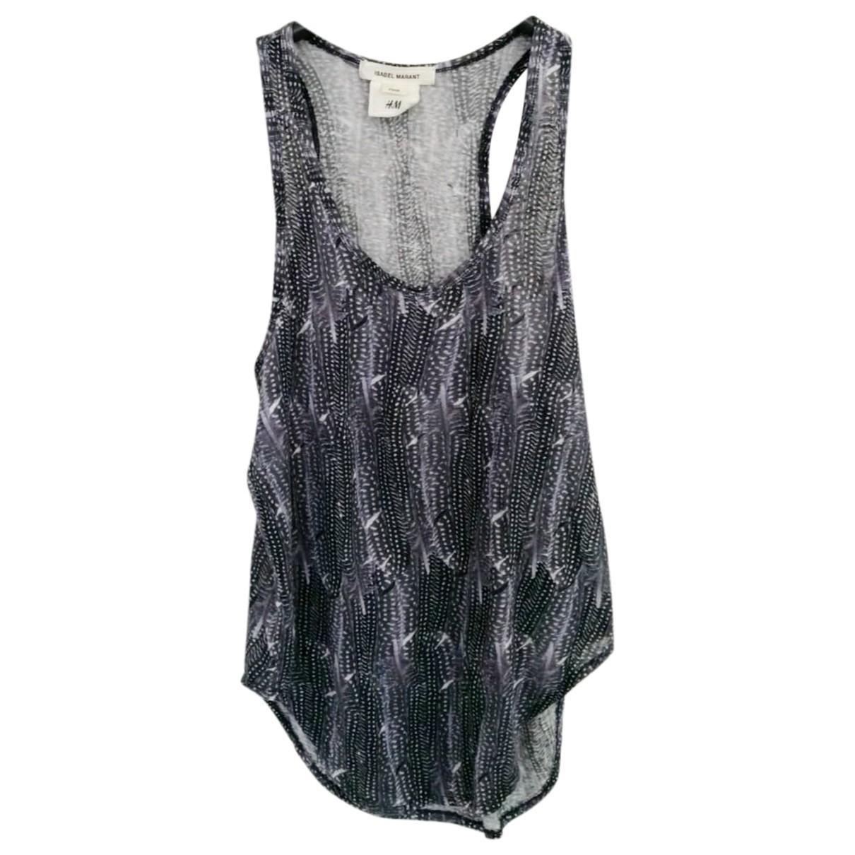 Isabel Marant Pour H&m \N Blue Linen  top for Women 34 FR