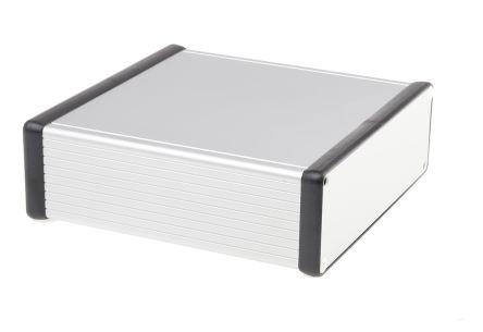 Hammond 1455, Clear Aluminium Enclosure, 160 x 160 x 51.5mm