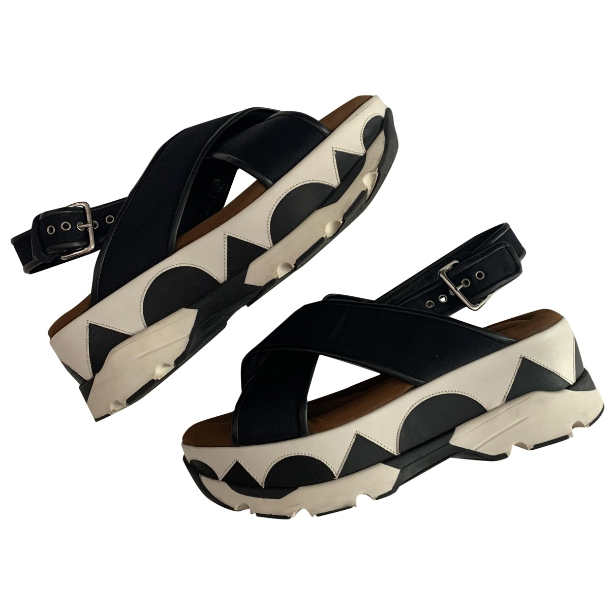 Marni \N Black Rubber Sandals for Women 39 EU
