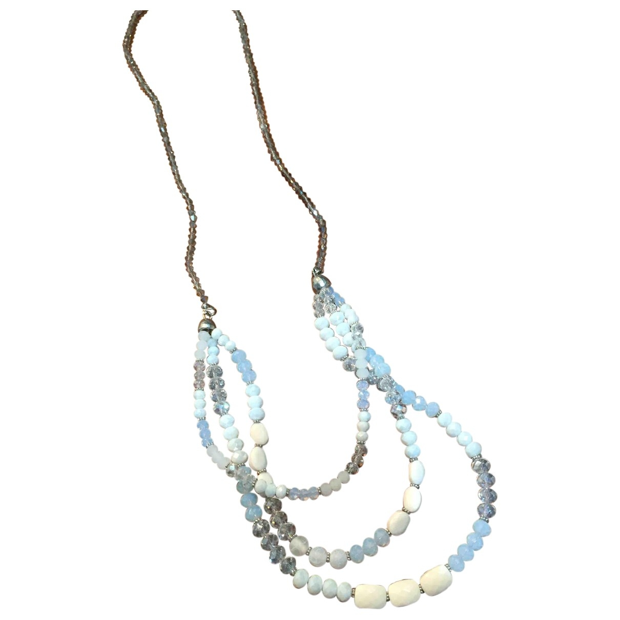 Non Signé / Unsigned Motifs Ethniques White Crystal necklace for Women \N