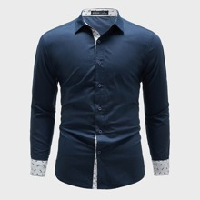 Shirt mit gerollten Ärmeln und Anker Muster