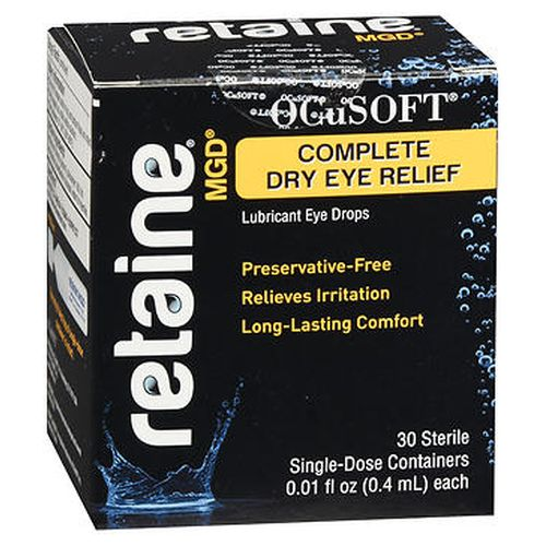 Retaine MGD Complete Dry Eye Relief Lubricant Eye Drops 30 Each by Retaine