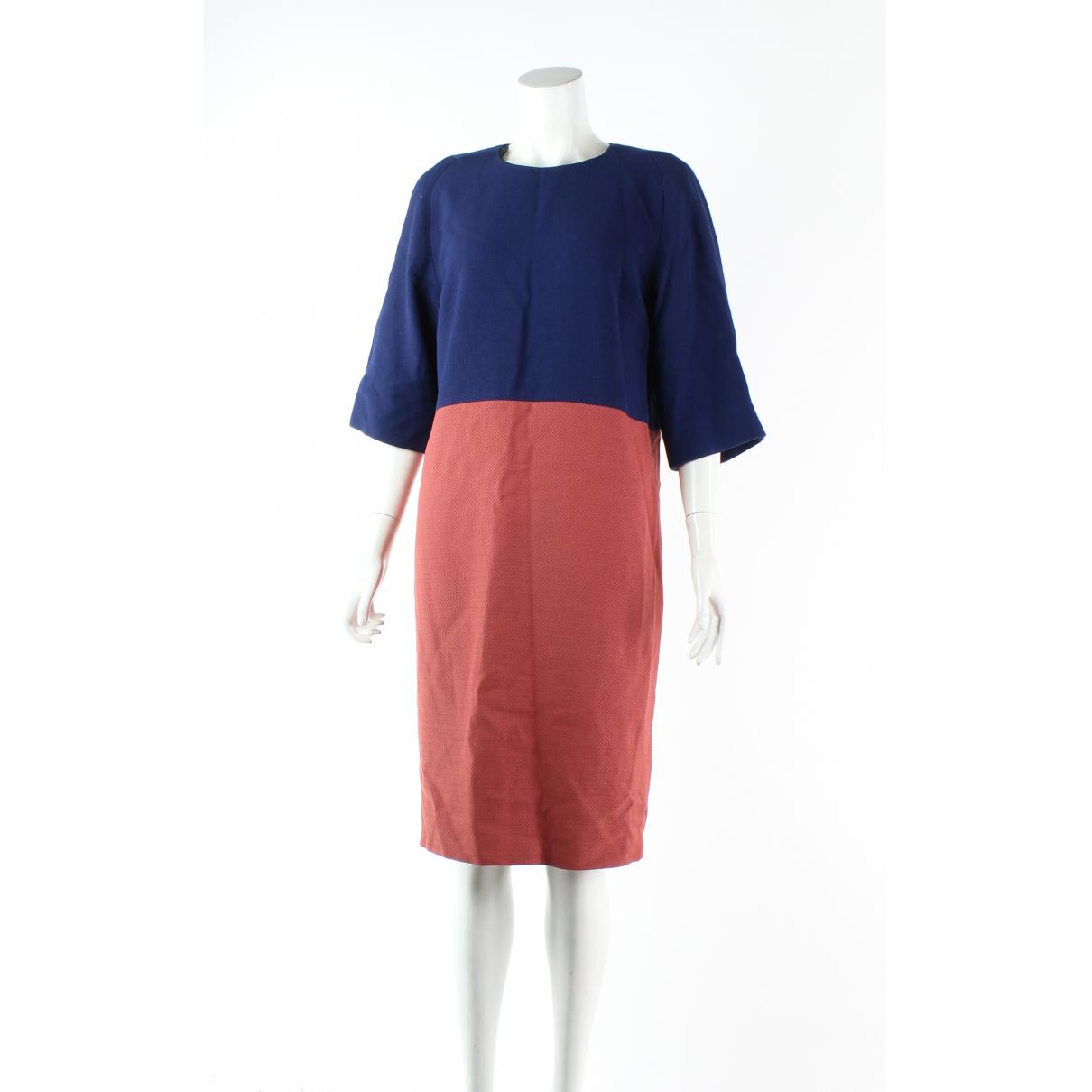 Dries Van Noten \N Kleid in  Blau Wolle
