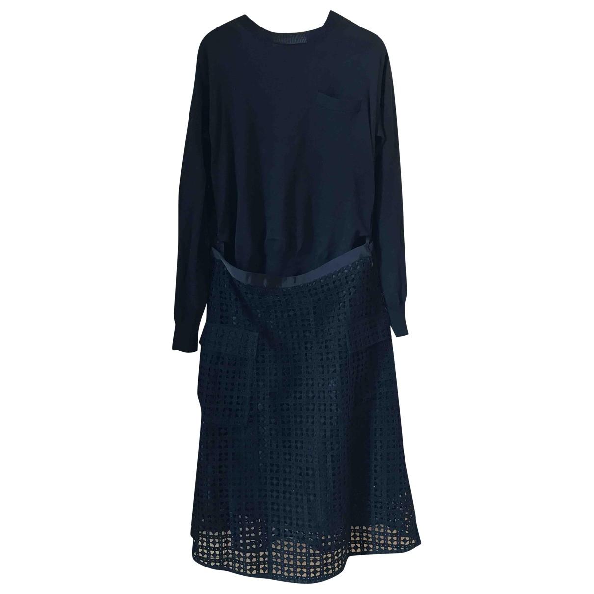 Sacai Luck - Robe   pour femme en coton - noir