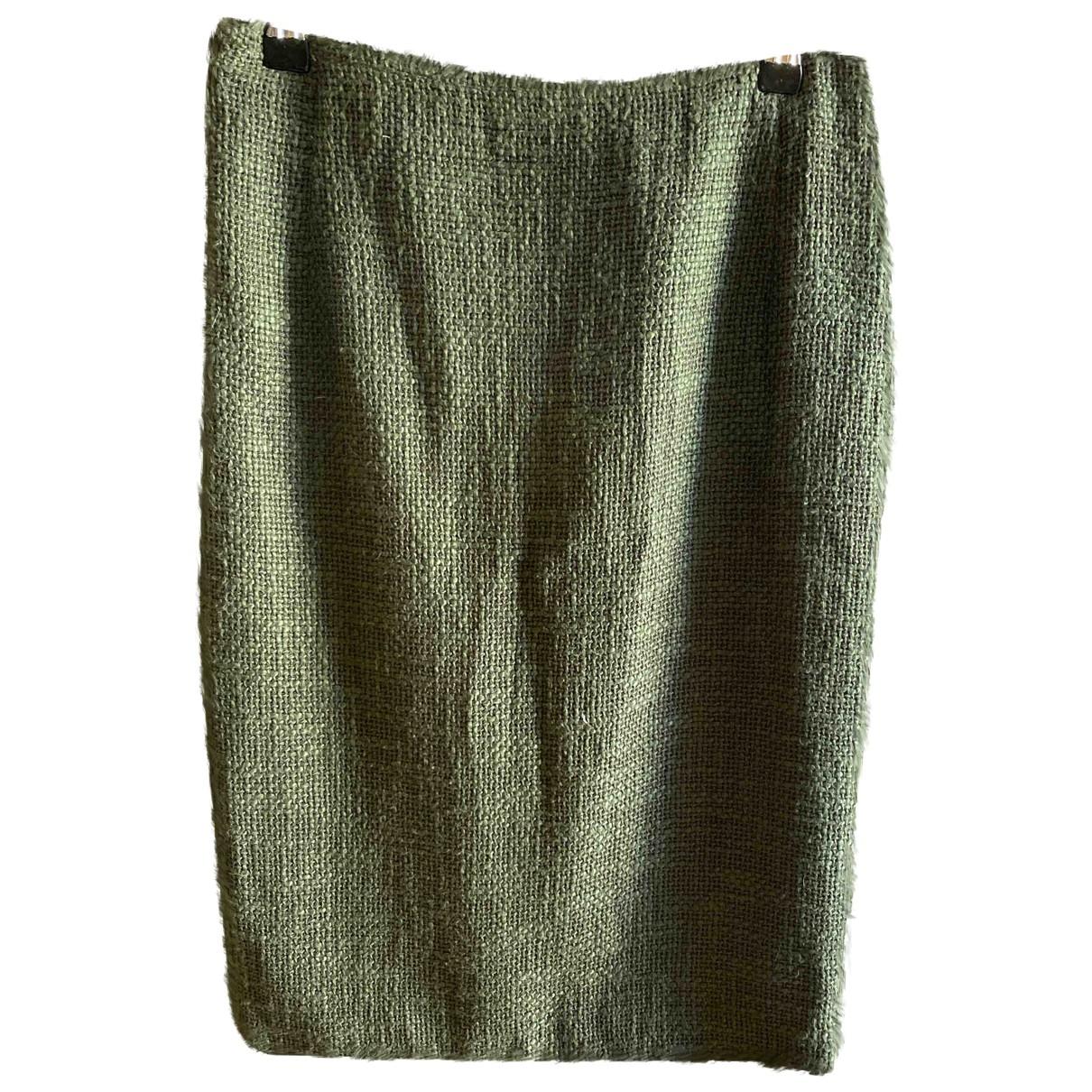 Agnona - Jupe   pour femme en coton - vert