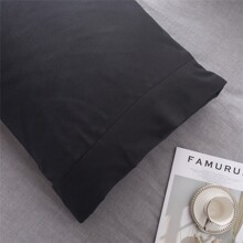 1pair Solid Color Pillowcase Without Filler