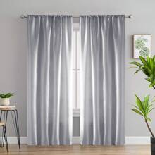 Einfarbiger Vorhang