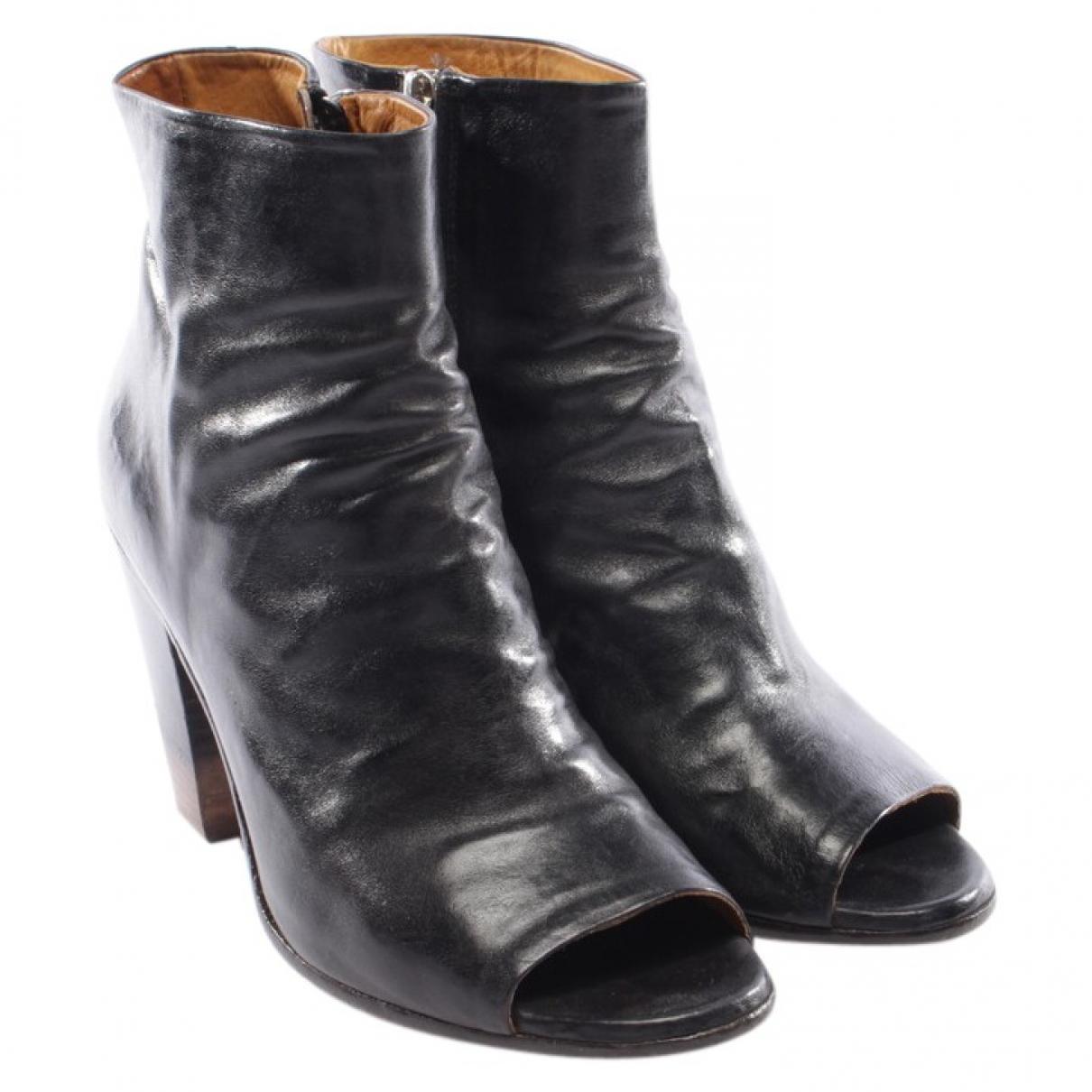 Officine Creative - Boots   pour femme en cuir - noir