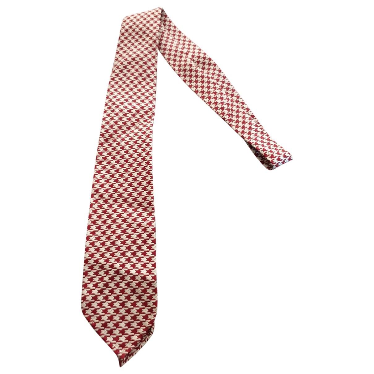 Hermès \N Burgundy Silk Ties for Men \N