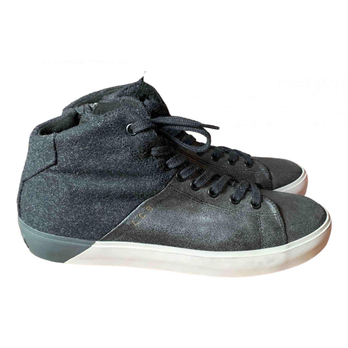 Leather Crown \N Grey Leather Trainers for Women 39 IT