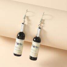 Ohrringe mit Weinflasche Design