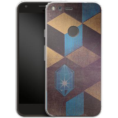 Google Pixel XL Silikon Handyhuelle - Cubes Gems von Brent Williams