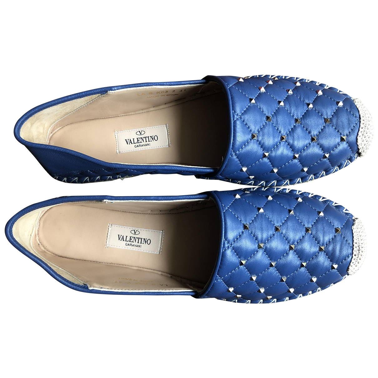 Valentino Garavani \N Blue Leather Espadrilles for Women 41 IT