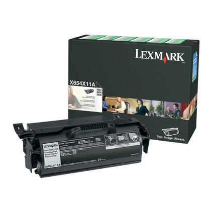 Lexmark X654X11A Original Black Return Program Toner Cartridge Extra High Yield