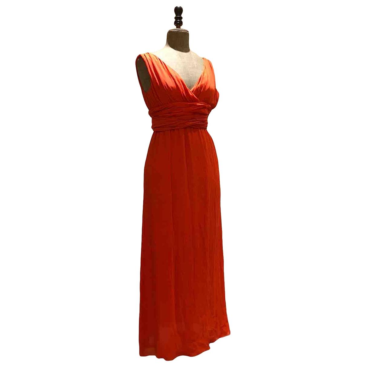 Adolfo Dominguez \N Kleid in  Orange Seide