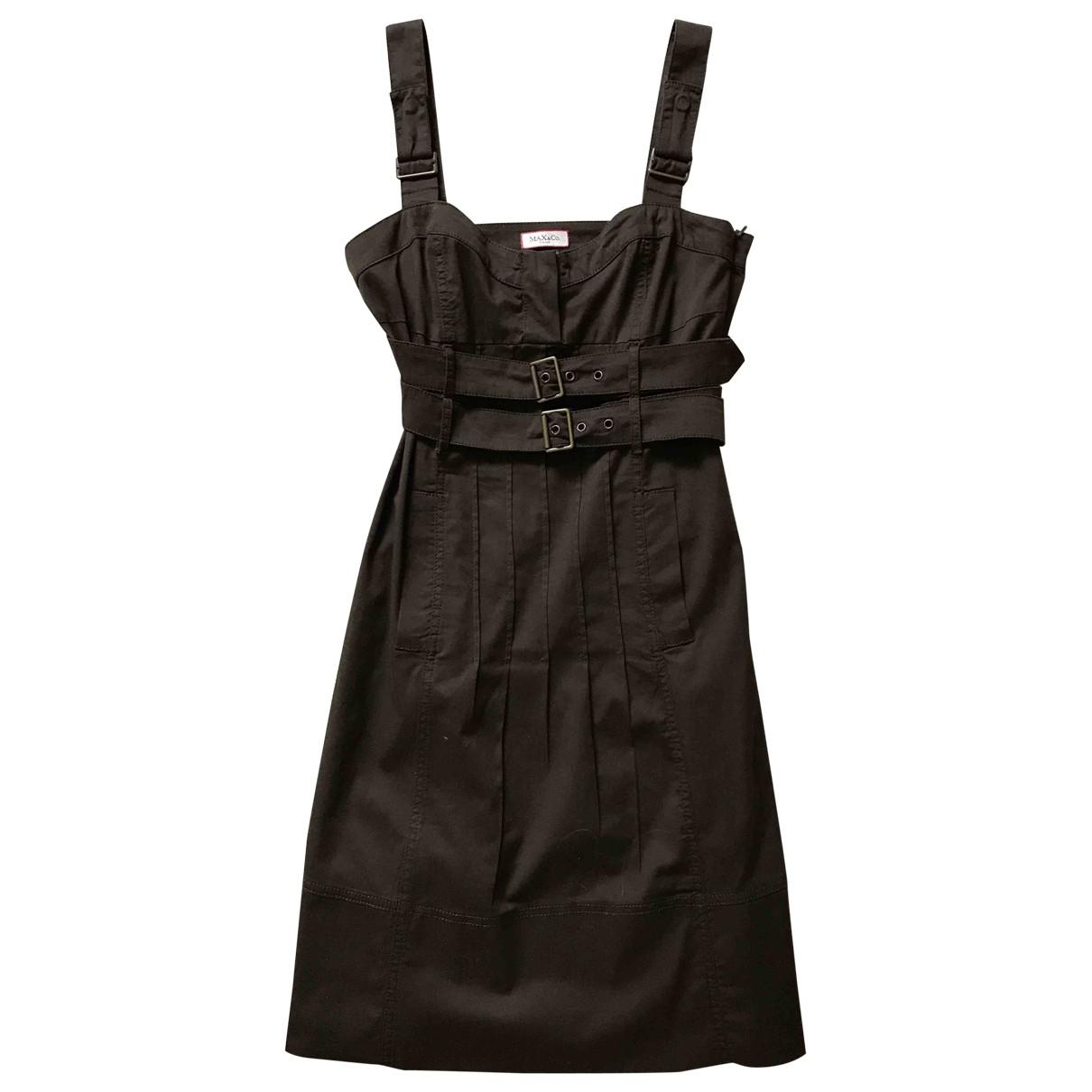 Max & Co \N Kleid in  Braun Baumwolle