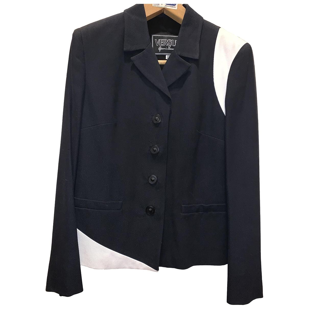 Versus \N Kleid in  Blau Baumwolle
