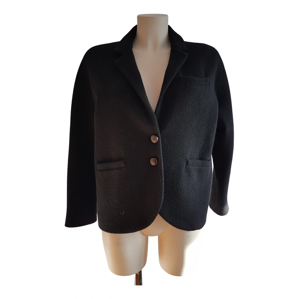 Non Signe / Unsigned \N Jacke in  Braun Wolle