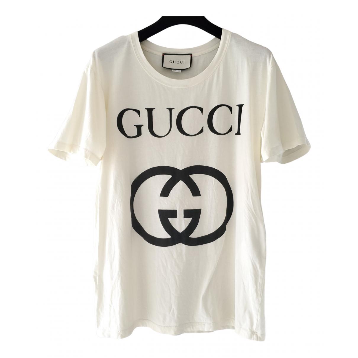 Gucci - Top   pour femme en coton - ecru