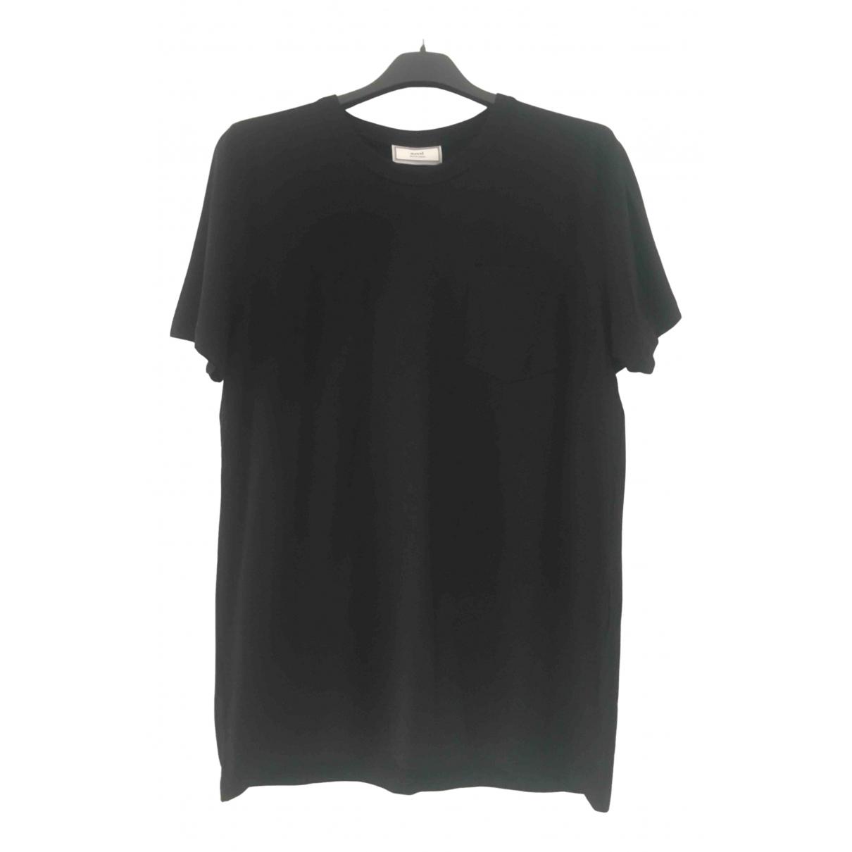 Ami - Tee shirts   pour homme en coton - noir